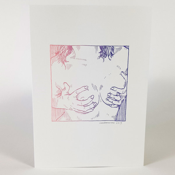 Erotische risoprint Breasts duo